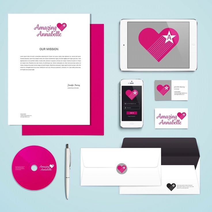 Final design. Branding for new charity Amazing Annabelle. #Pantone226 #heart #star #logo #graphicdesign
