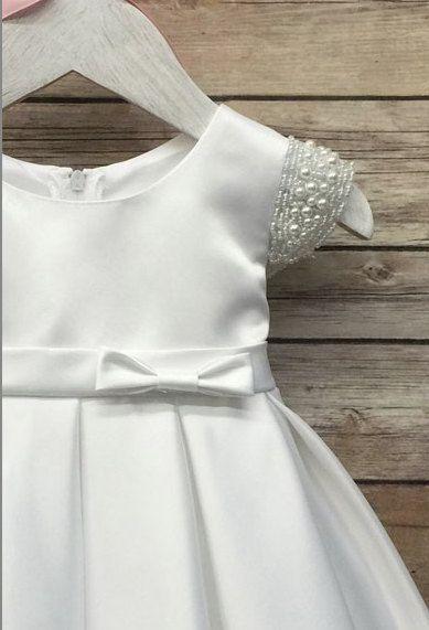 Baby Girl Christening Dress Baby Baptism Dress por BabyGalore0                                                                                                                                                                                 More
