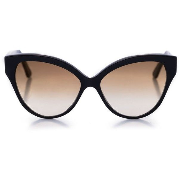 Cutler and Gross (259.205 CRC) ❤ liked on Polyvore featuring accessories, eyewear, sunglasses, cutler and gross, 2 tone sunglasses, cat-eye glasses, cutler and gross glasses and cateye sunglasses
