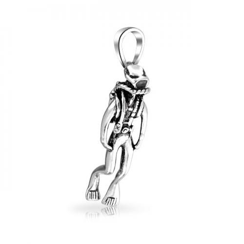 Bling Jewelry Nautical Antique Scuba Diver 925 Sterling Silver Pendant