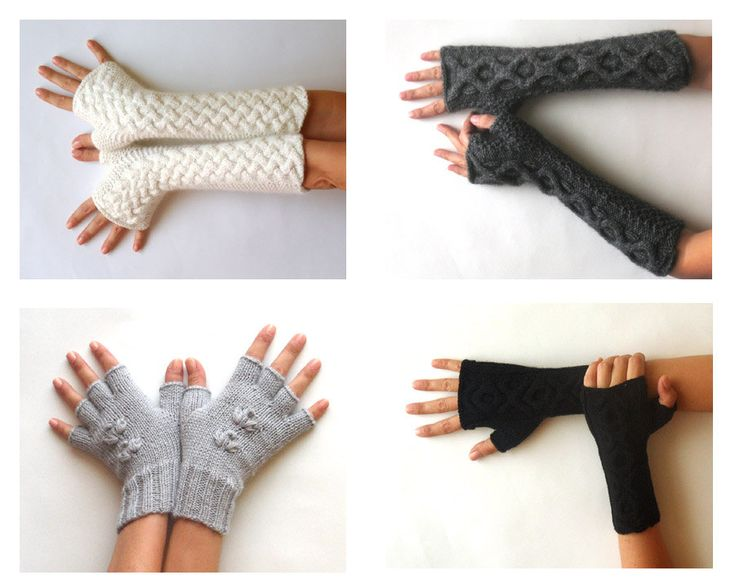 Knit Fingerless Gloves Patterns Cable Mittens Knit Pattern