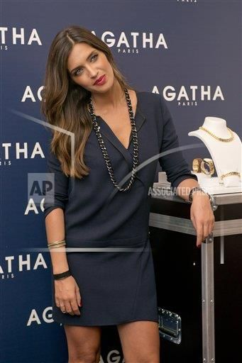 Sara Carbonero presents the new Agatha Paris collection at Espacio Mood on October 9, 2014 in Madrid, Spain. (Photo by Oscar Gonzalez/NurPhoto/Sipa USA) (Sipa via AP Images)