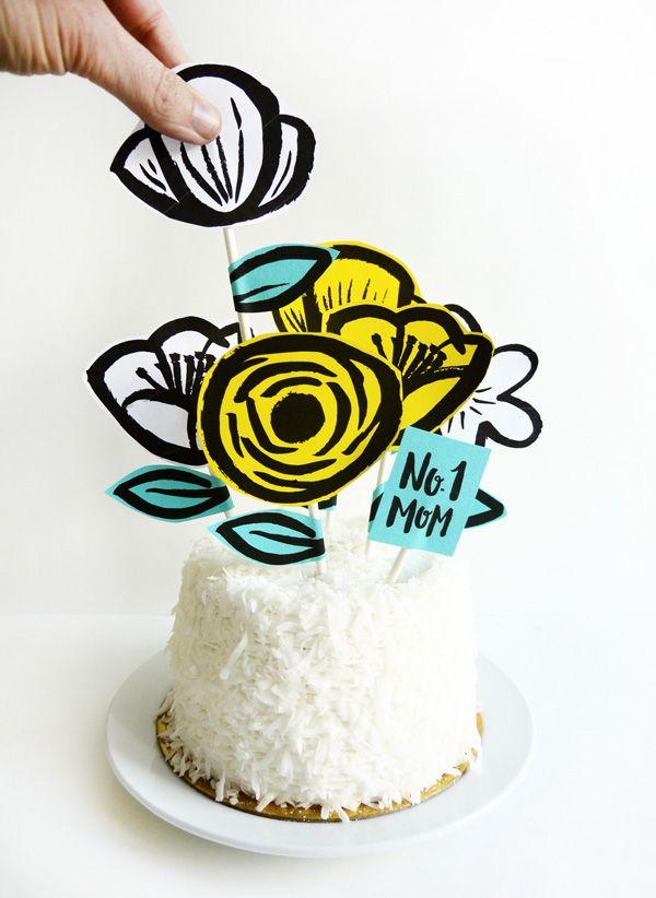 Printable cake topper Mother's Day // Imprimibles toppers, puede usarse para otras cosas que no sea el día de la madre también.