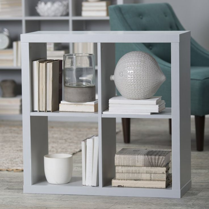Hudson 4-Cube Bookcase - Bookcases at Hayneedle