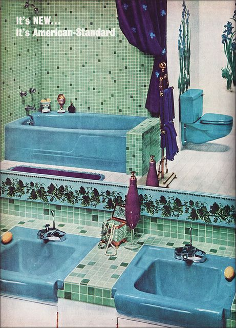 Best Retro MidCentury Modern Bathrooms Ideas On Pinterest - 1960s floor tiles