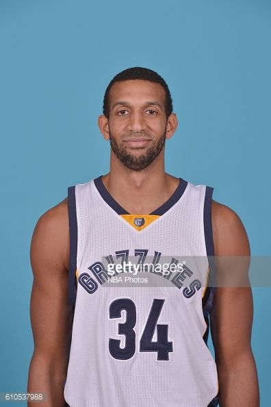 Brandan Wright of the Memphis Grizzlies poses for a head shot during the 20162017 Memphis Grizzlies Media Day on September 26 2016 at FedExForum in...