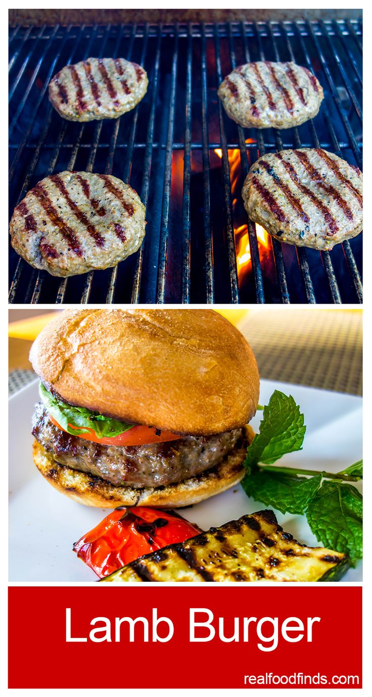 Lamb Burger by Real Food Finds