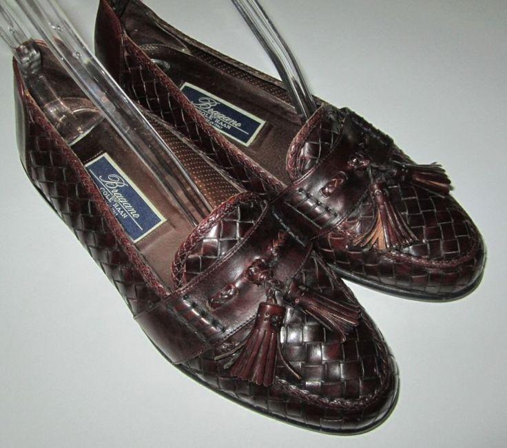 Giorgio Brutini Mens Loafers Size 9.5 York Brown Leather Tassle Woven