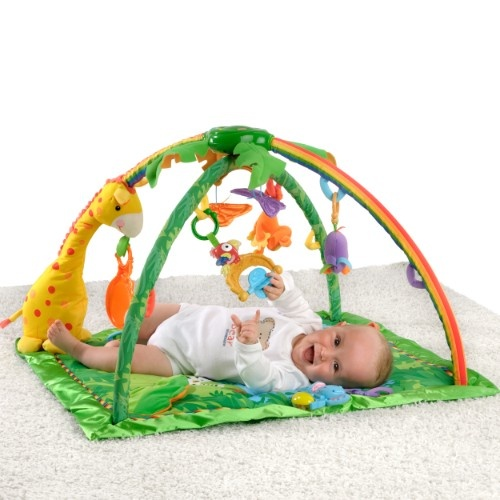 Fisher Price - Rainforest de luxe Activity Krabbeldecke mit Spielbogen
