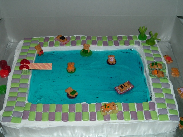 Swimming Pool Cake Ideas swimming pool cake Jello Swimming Pool Cake