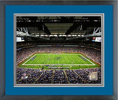 Ford Field Detroit Lions NFL Stadium Photo (Size: 18″ x 22″) Framed