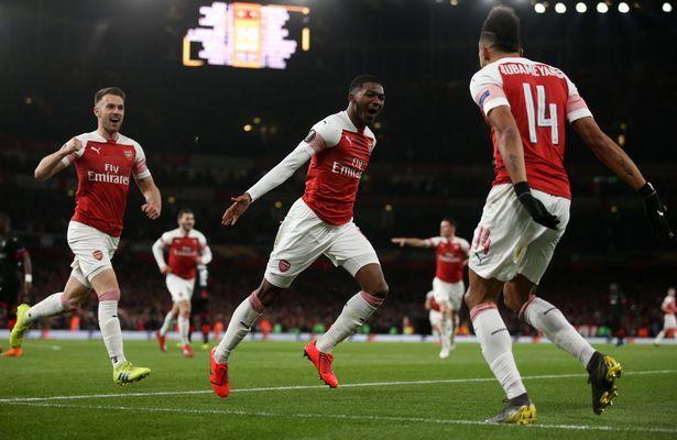 Arsenal Player Ratings Aubameyang Electric Kolasinac Superb And Ramsey Magnificent Football London Arsenal Players Arsenal Europa League