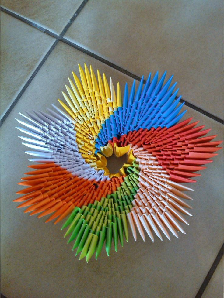 how to make a 3d origami spiral bowl