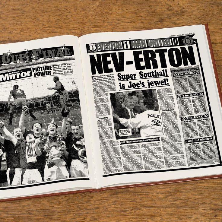 Personalised Everton Football Club Headline Book