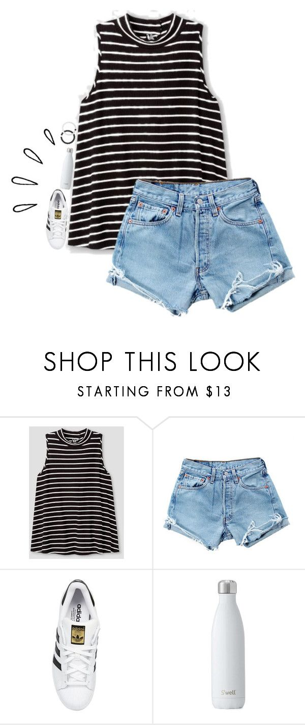 """""""qotd in d"""" by rileykleiin ❤ liked on Polyvore featuring Levi's, adidas Originals, Lokai and Old Navy"""