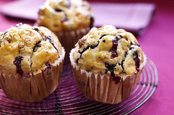 Muffins med äpple, havregryn och russin