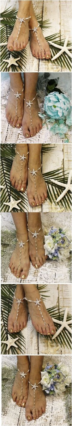 Found the perfect starfish barefoot sandals for my beach wedding!