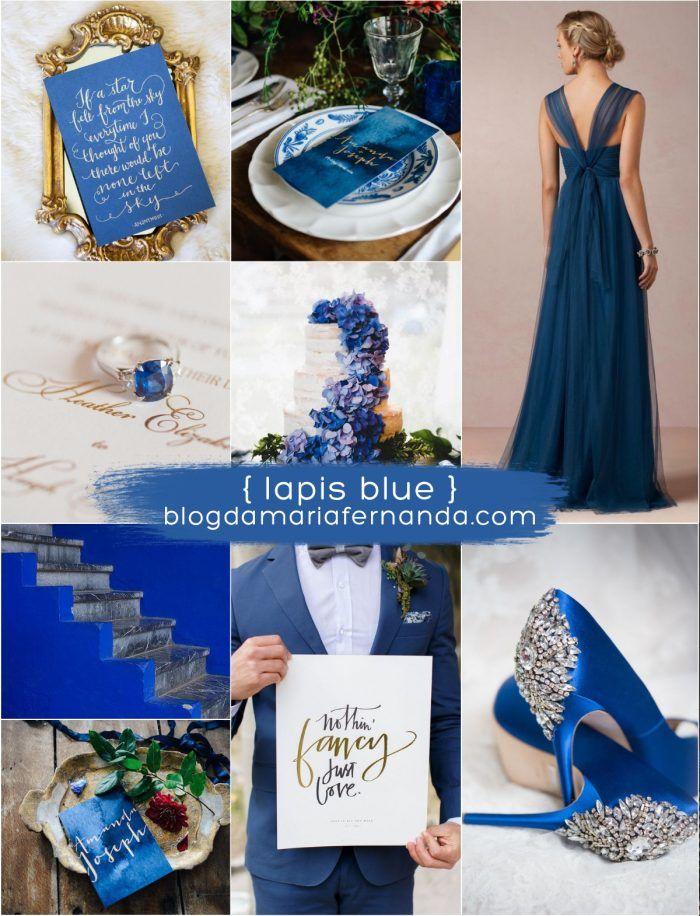 Decoração de Casamento : Paleta de Cores Lapis Blue | Blog de Casamento DIY da Maria Fernanda