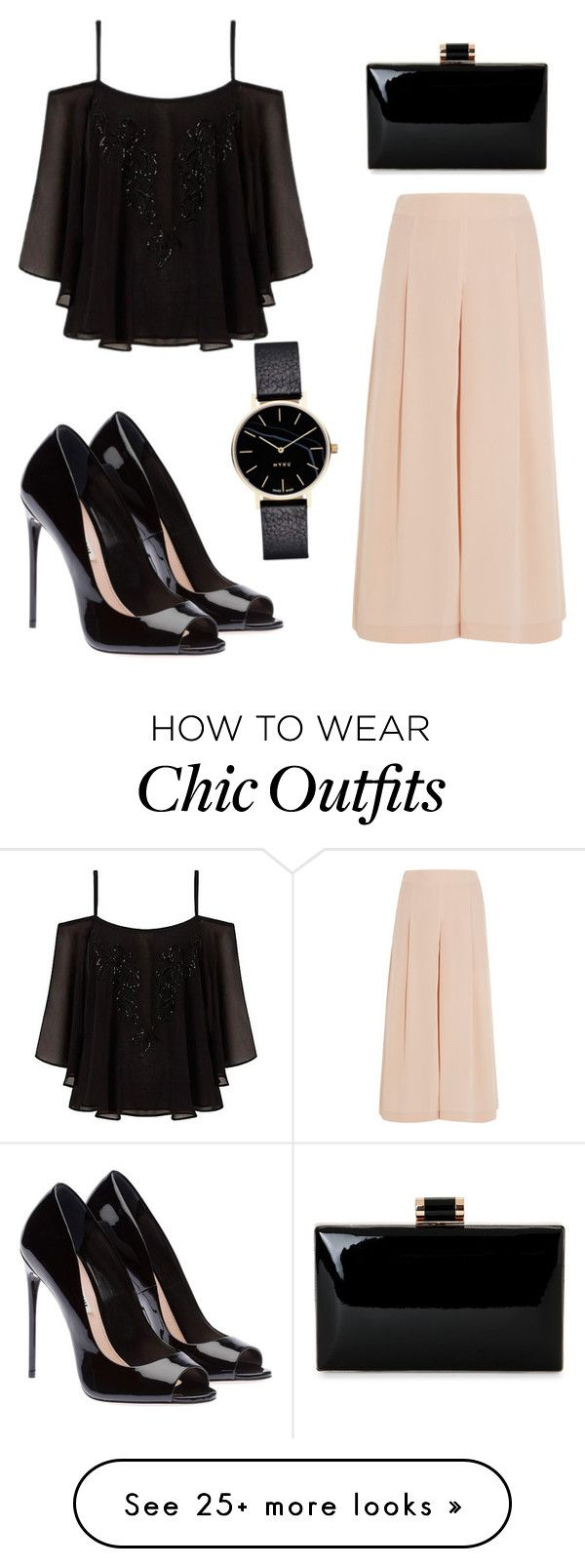""""""""""" by gabrielledixon on Polyvore featuring TIBI, Lipsy, TrickyTrend and culottes"""