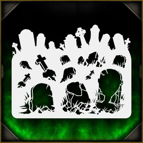 Tombstones 1 - Airbrush Stencil Template Airsick Zombies