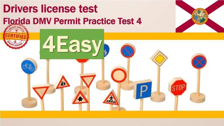Drivers license test: Florida DMV Permit Practice Test #4(Easy)