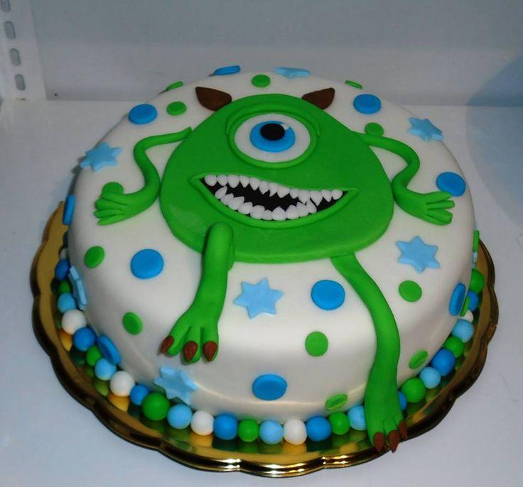 Modro zelený dortík s kuliočkem.
