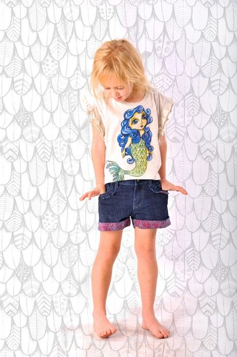 Paper Wings Summer 14Product Paper Wings Girls Relaxed Fit Vintage Denim ShortsProduct code S14N500