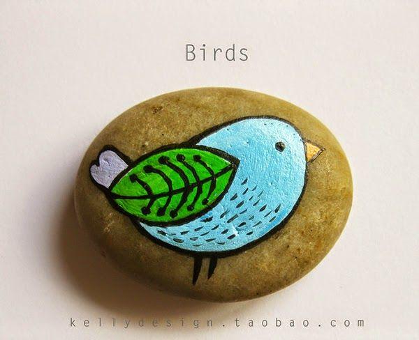 17 mejores ideas sobre animales de piedra en pinterest for Tecnica para pintar piedras
