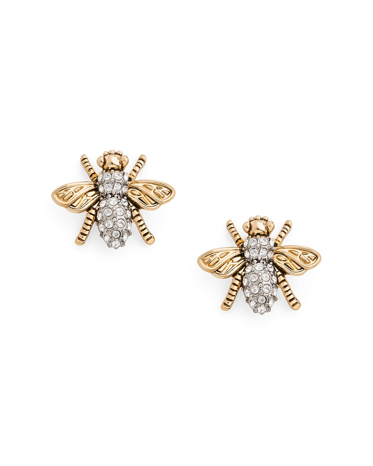 {Honey Bee Earrings} JewelMint - dig the retro vibe of these little bees @Jillian Smith Anderson
