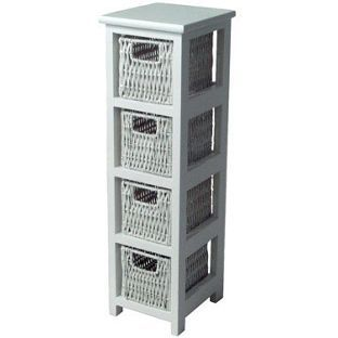 Homebase Slim 4 Drawer Storage Unit Now 23 99