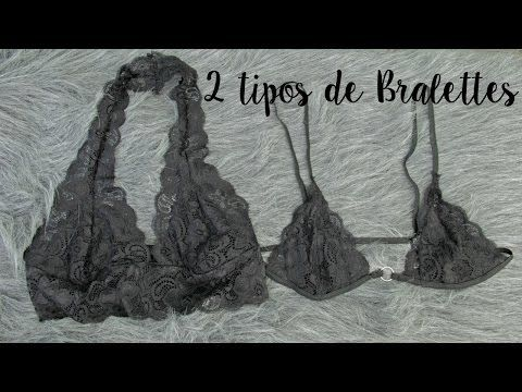 How to Make a Lace Bralette - DIY- como hacer un Bralette - YouTube