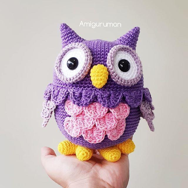 Amigurumi Owl. Crochet pattern PDF. Tutorial. | Etsy (mit Bildern ... | 640x640