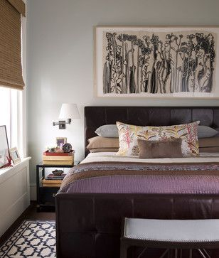 Bedroom Photos Contemporary Quilt Purple Wall Design, Pictures, Remodel,  Decor And Ideas
