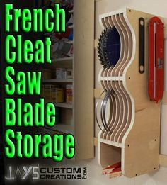 Video: French Cleat Blade Storage Rack - by JSB @ LumberJocks.com ~ woodworking community                                                                                                                                                      More