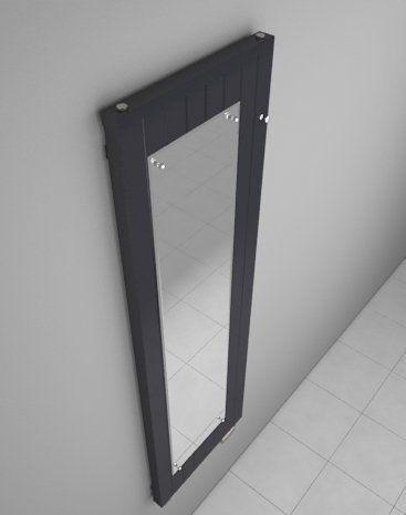 ONYXMIRROR–Radiateur décoratif avec Miroir pour un couloir ou un dressing –Designmoderne – Gris graphite – Kit de robinet inclus –…