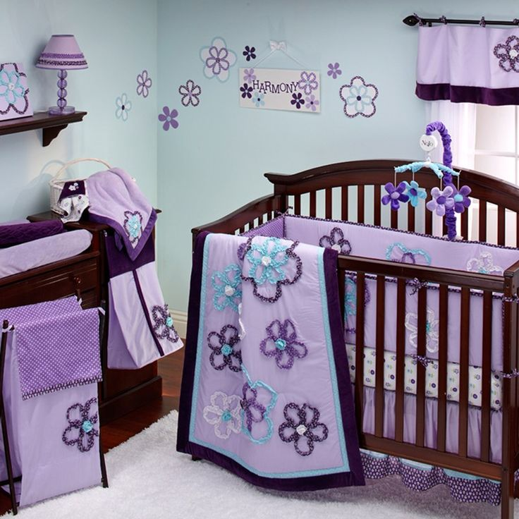 Girl Baby Bedroom Ideas: Lavender And Turquoise Bedroom Decor