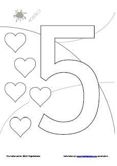 3 4 5 Yaş Sayılar Etkinlik 5 Sayısını Tanıma Boyama