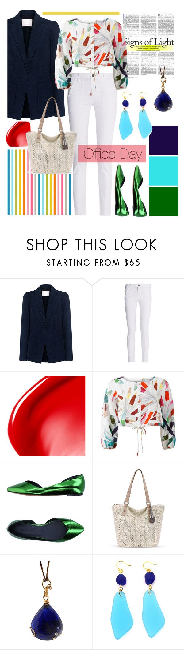 """Office Day,"" by babett-beattie ❤ liked on Polyvore featuring Rebecca Taylor, rag & bone, NARS Cosmetics, Mara Hoffman, Étoile Isabel Marant and Federica Rettore"
