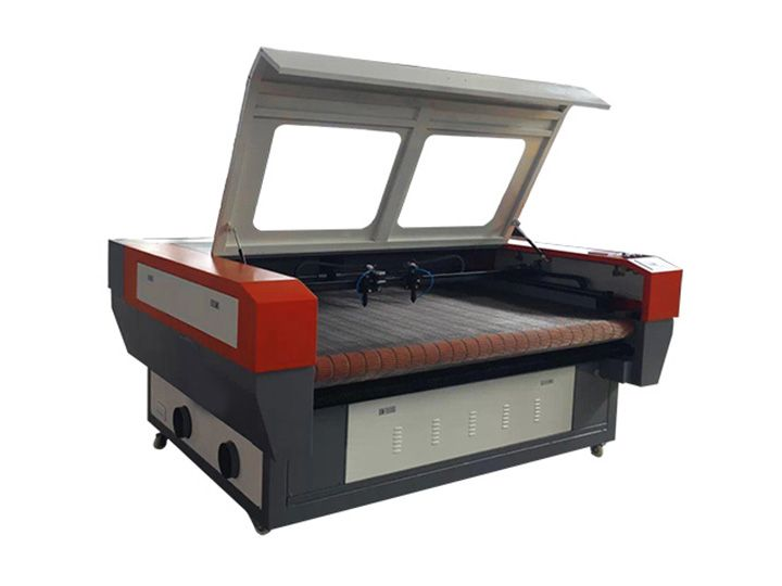 Laser fabric cutting machine with double laser heads is designed for fabric cutting industry, it can do accurate cutting on different kinds of textile fabrics in random figure. now the laser fabric cutter for sale with low price.