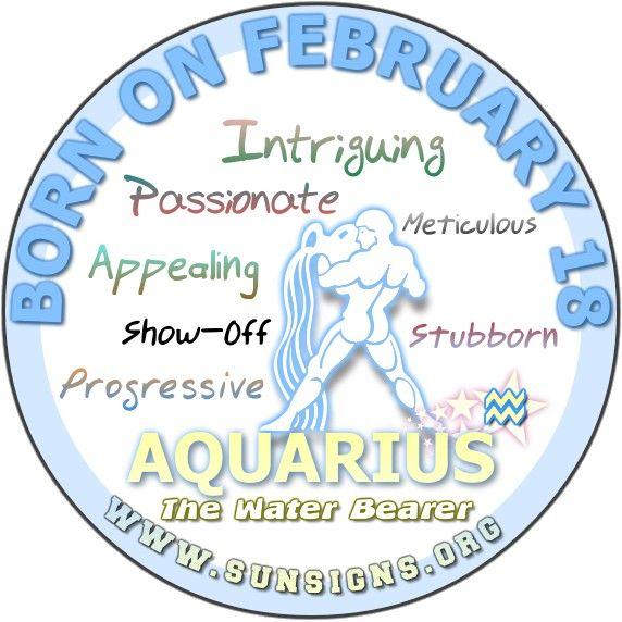 February 18 - Aquarius Birthday Horoscope Analysis & Personality | Sun Signs