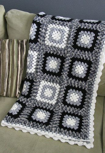 black white grey blanket