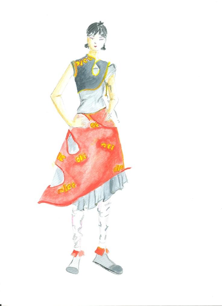 Japanese outfit style    modern kimono!