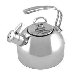 I love my Chantal Stainless Steel Classic Teakettle with two-tone harmonica whistle, this kettle doesn't just whistle – it sings!