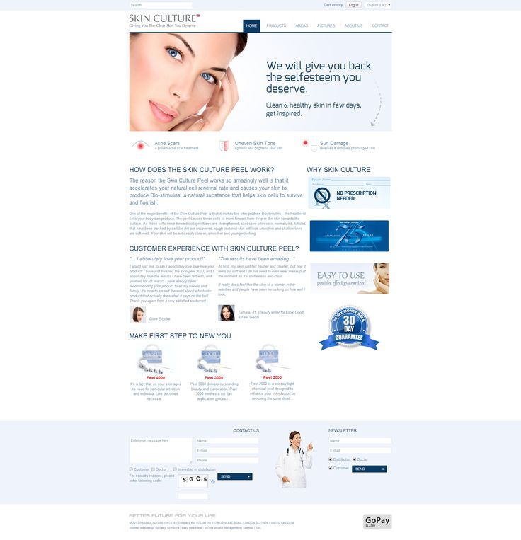 Multilingual skin care e-shop