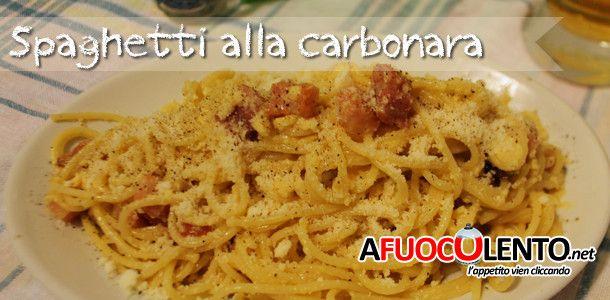 SPAGHETTI ALLA CARBONARA #spaghetti #pasta #afuocolento #carbonara #pancetta