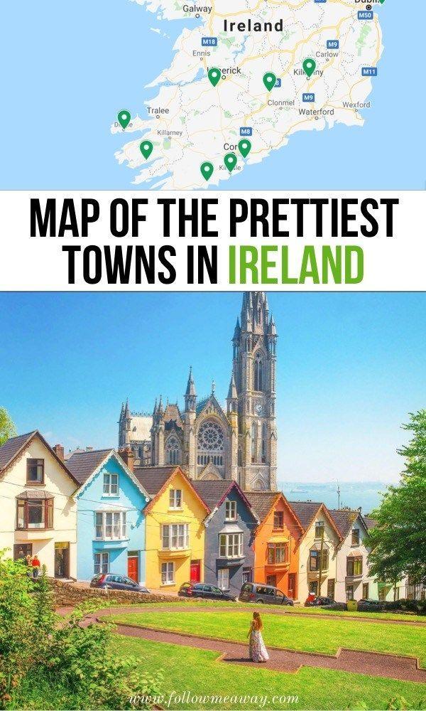 Karte der schönsten Städte in Irland