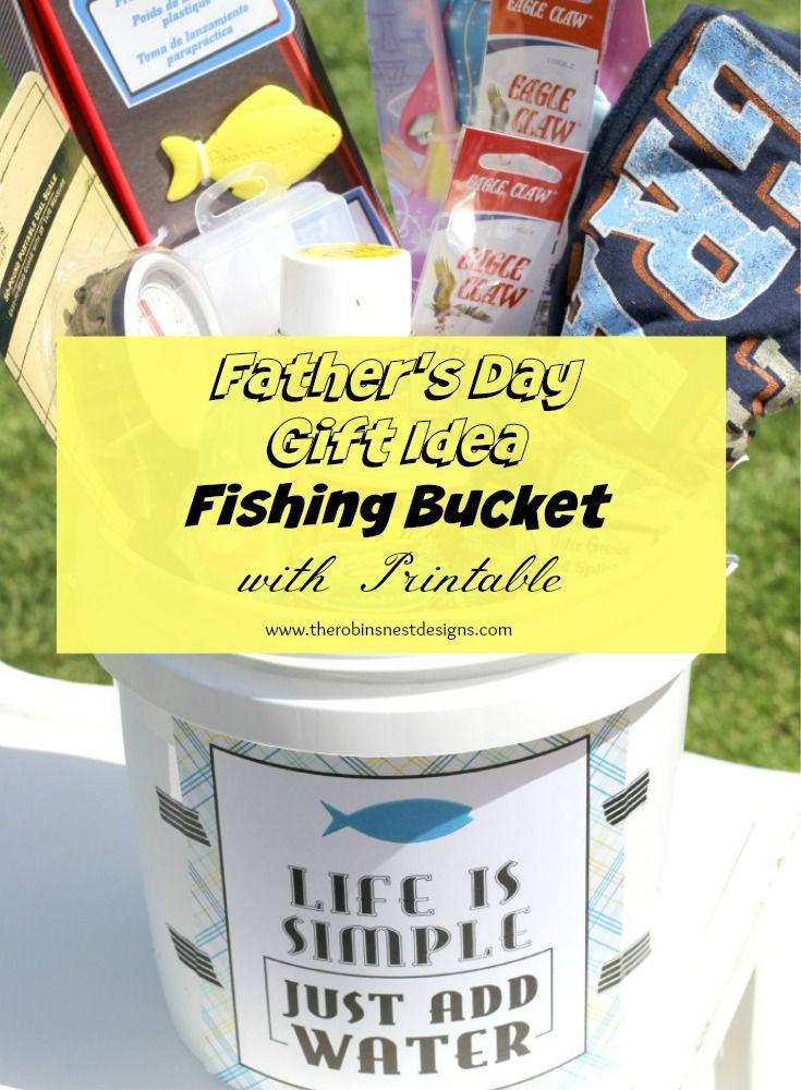 Fathers Day Gift Idea Fishing Bucket Take The Grand Kids Fishing
