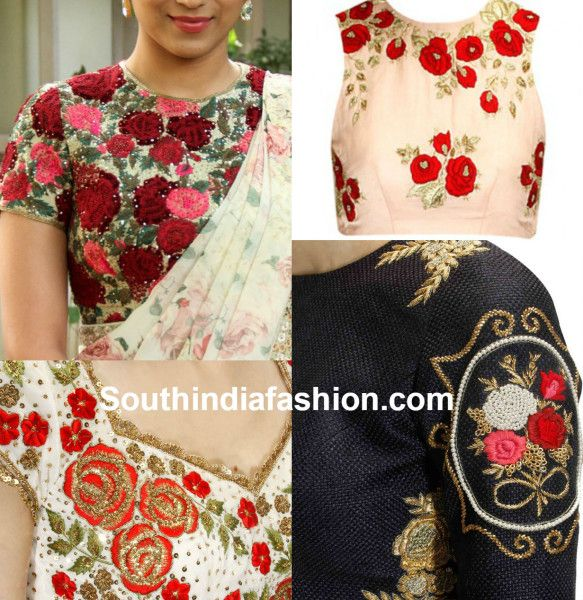 blouse_designs_with_floral_embroidery.jpg 583×600 pixels