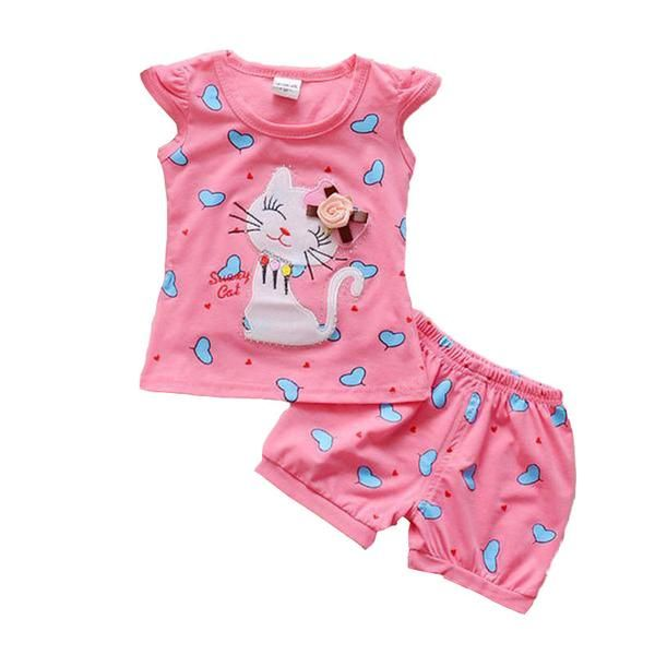 Cute Pink Top and Shorts for Baby Girls!