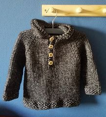 Seamless Baby Hooded Pullover Free Pattern